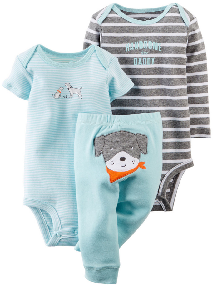 BB135 Free Shipping 3 pcs 1 set Baby clothing 3pcs /set Teamsters boy sets pants girl bodysuit baby clothes Retail(China (Mainland))