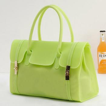 2013 female candy color block transparent jelly bag women's fashion female bags handbag