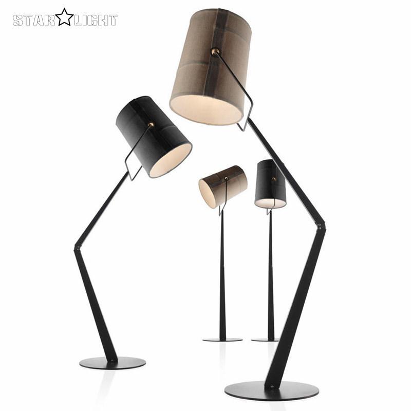 Italy Diesel x foscarini fork floor lamp bedroom floor lights creative fold body linen lampshade White/Black floor lamps(China (Mainland))