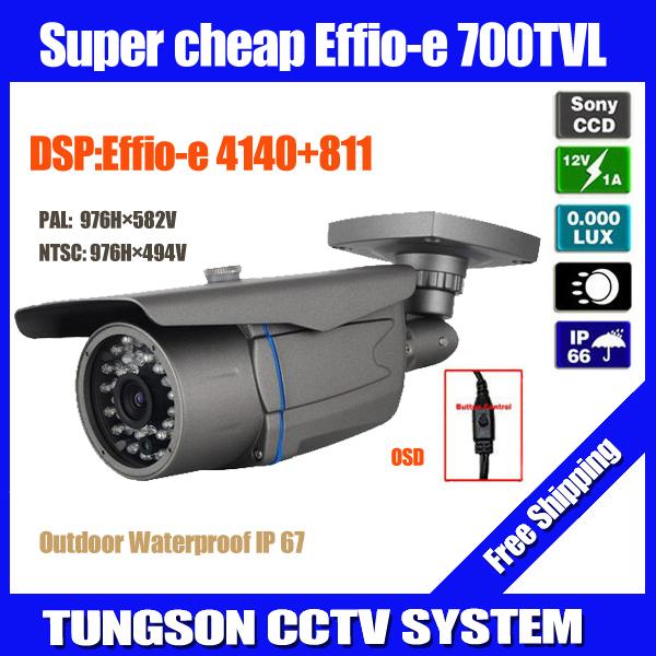 NEW Sony Effio 700TVL OSD Menu Video Surveillance Outdoor Waterproof Infrared Night Vision Bullet Home Security CCTV Camera(China (Mainland))