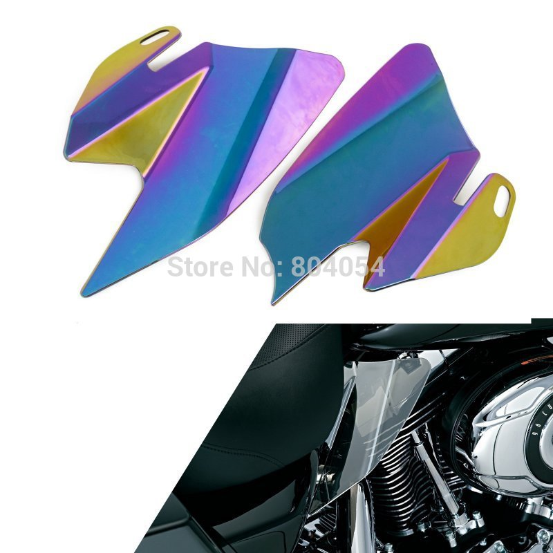 Saddle Shield Heat Deflectors For Harley Davidson Touring Models 2008 Iridium Coated  Colorful<br><br>Aliexpress