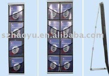 double lines literature stand,netlike brochure holders,fabric magazine racks, catalogue shelf,magazine racks, display equipment