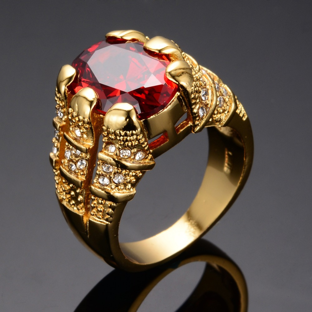 Womens Cubic Zirconia Kt Gold Cocktail Ring