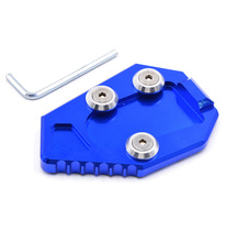 JK Motorcycle Parts Kickstand Foot Side Stand Extension Pad Support Plate HONDA CB1000R 2008-2015 09 10 11 12 13 14 Blue - Jiangke store