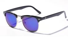 10 Colors New 2015 Retro Clubmaster Sunglasses Men Fashion Half Frame Metal Vintage Coating Sunglass Women
