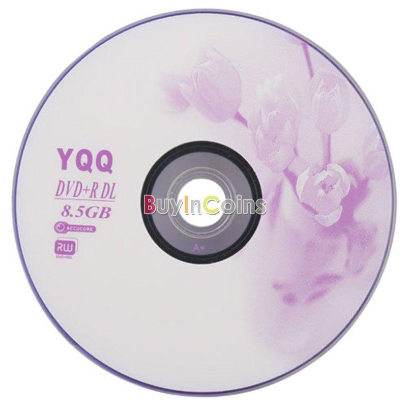 5Pcs New 8X Blank Recordable Printable DVD-R DVDR Blank Disc Disk 8X Media 8.5GB #10407(China (Mainland))