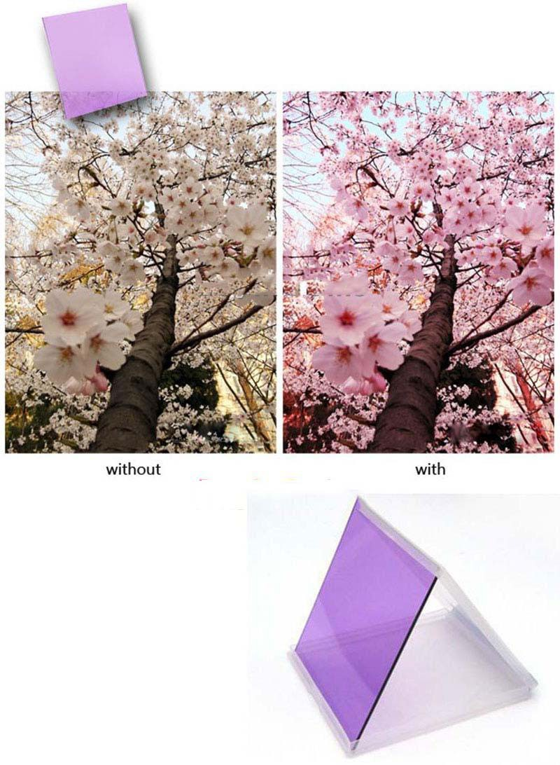 CoolPrice Salable! Full Purple Color Lens Filter for Cokin P Series Square #13 rushing to buy(China (Mainland))
