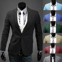 New Hot Sale 2015 New Design Mens Brand Blazer Jacket Coats,Casual Slim Fit Stylish Blazers For Men,Suits Size M~XXL 8 Colors