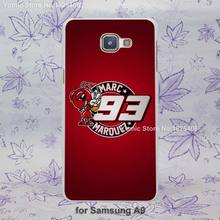 Coque Marc Marquez logo red design hard White Skin Case Samsung Galaxy a3 a5 a7 a8 a9 plastic case cover - Yomic store
