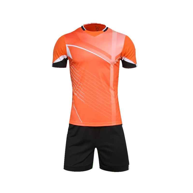 1 set Polyester football team training multicolor Men Stripes short sleeve soccer jersey color Orange EU S-XL SQ212(China (Mainland))
