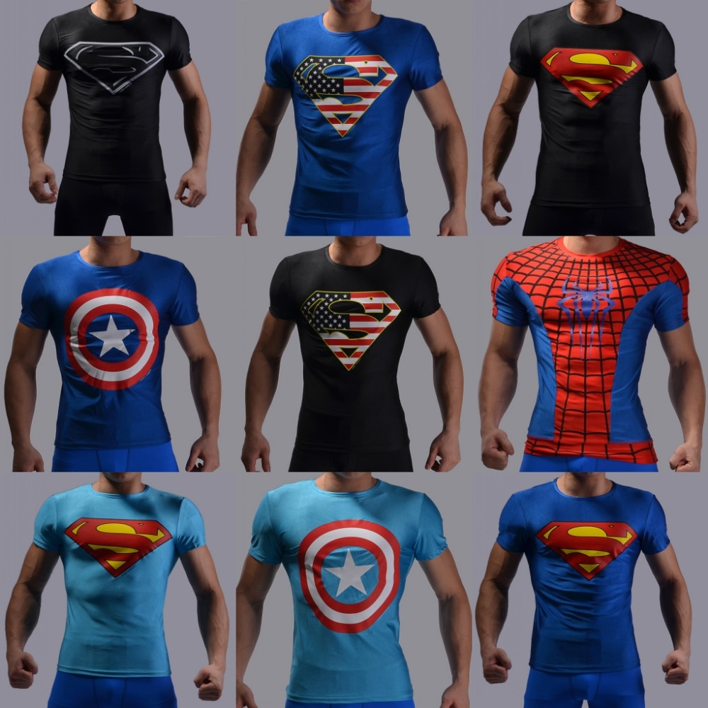 2016 New Arrival Gym T shirt Men Bodybuilding and High Quality Fitness Men's Shirts Sports Clothes(China (Mainland))