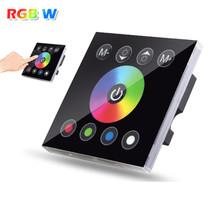 DC12V 4A * 4CH Schwarz Gehärtetem Glas Panel Digital Touchscreen Dimmer Home Wandlichtschalter Für RGBW Led-streifen Band 3 kanal()