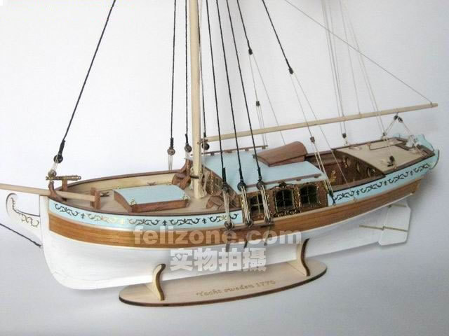 Free shipping Scale 1/24 the Luxury Yacht Sweden 1770 sailboat model kits SC MODEL(China (Mainland))