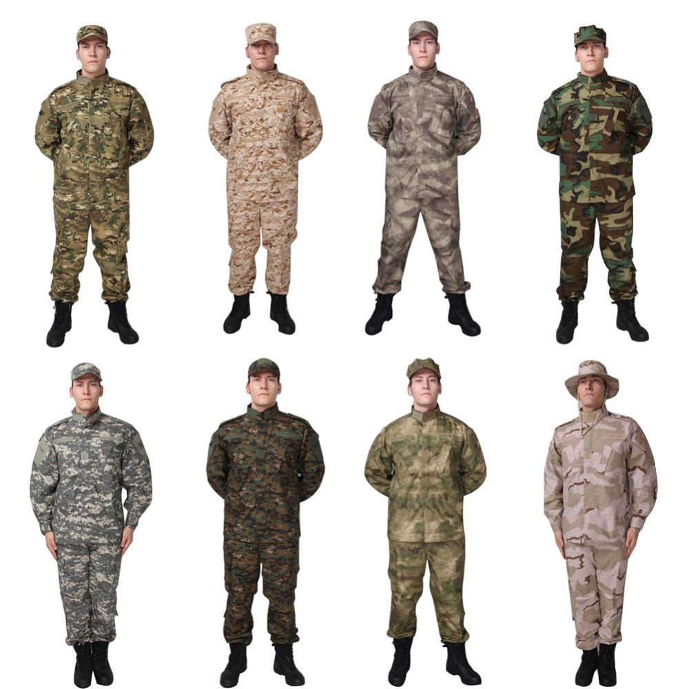 8 Colors Navy Tactical Combat Suit US Camouflage Military Tranning BDU Uniform Set Paintball Hunting Outdoor CS War Game Clothes<br><br>Aliexpress