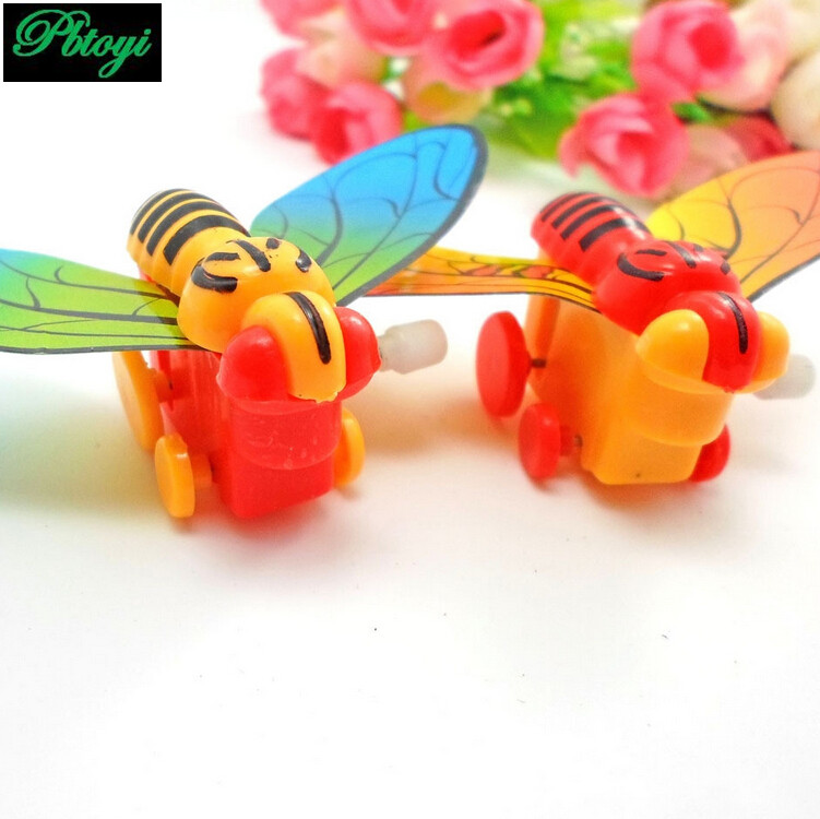 Chain of butterflies spring dragonfly toy wind colorful insects factory wholesale PD0427(China (Mainland))