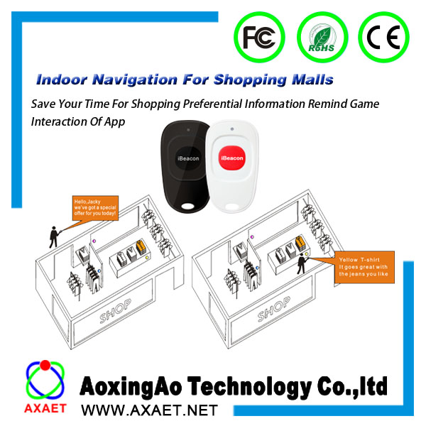 Low Energy Beacon Bluetooth BLE 4.0 Proximity Device low power google beacon eddystone with Battery directly sale from AXAET(China (Mainland))