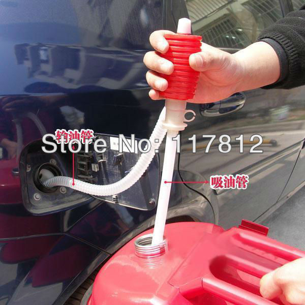 Free Shipping Car Motorcyle Truck Siphon Pump Hose Gas Oil Water Liquid Transfer Hand Pump
