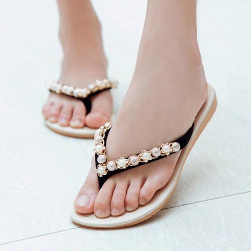 summer fashion women sandal Beach home flip flops slippers female flat sandals(China (Mainland))