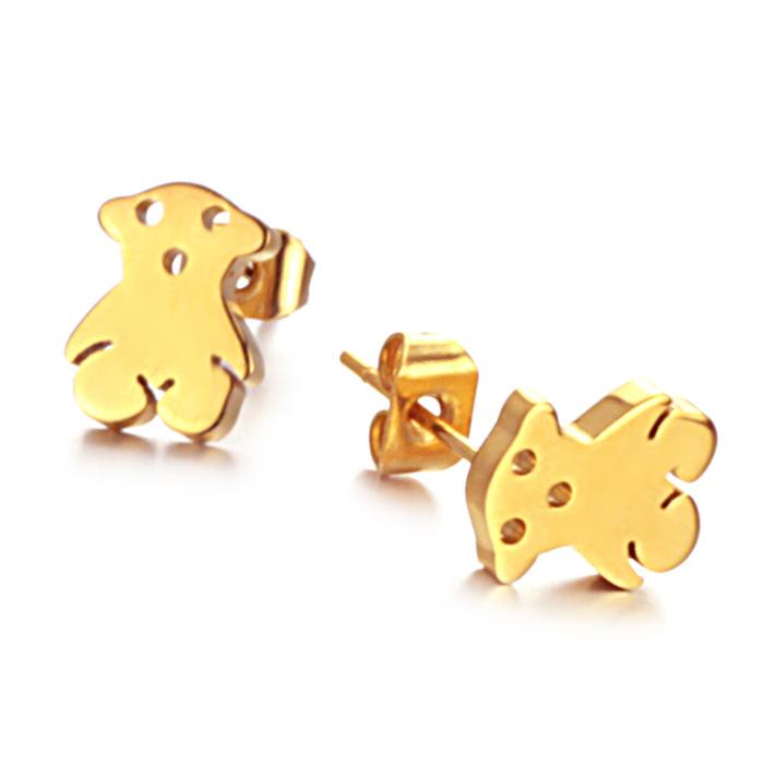 2015 Rushed Brinco Brincos Earrings Women New Korean Jewelry Super Cute Winnie Steel Fashion Stud Ge231 - kiki fashion jewelry ( worldwide store)