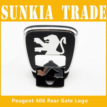 Free Shipping  BOOTH LOGO FOR PEUGEOT 406 Rear Gate Luck Logo