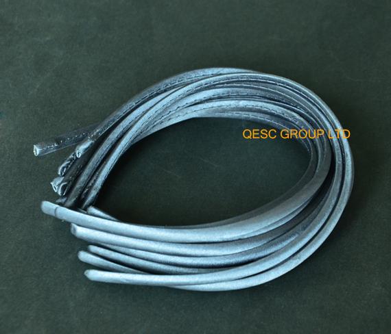 Grey 7mm satin headband alice headband for sinamay fascinator(China (Mainland))