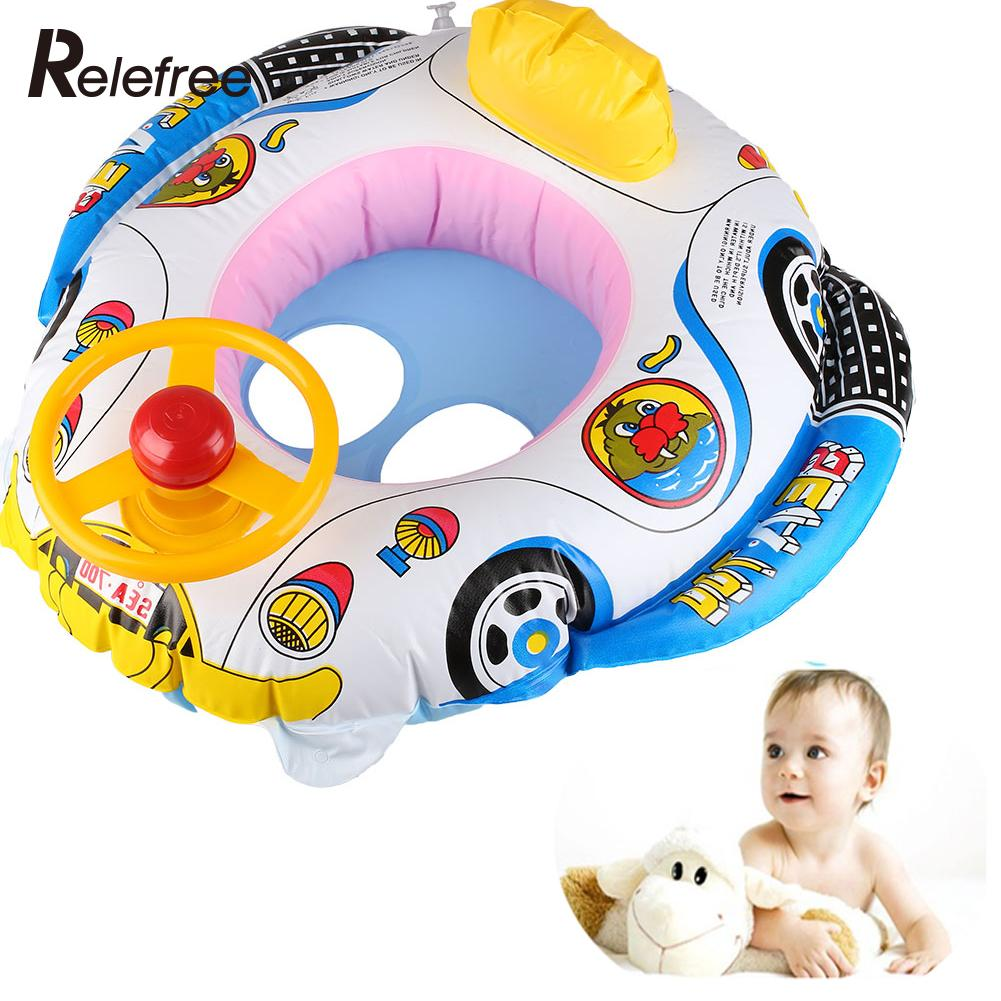 Inflatable Swimming Pool Floats Swim Float Boat Infant Chair Swimming Aid With Wheel Horn Inflatable Pool Toys(China (Mainland))