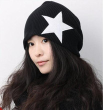 Hip hop knitted Hats for Women Beanie Crochet Star Super Men's Skullies Hat female winter cap(China (Mainland))