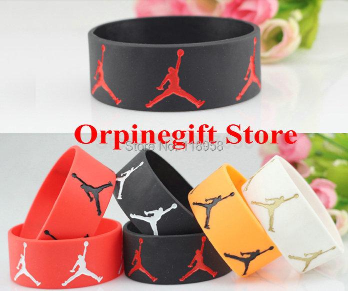 10new SPORT Wristbands Silicone Bracelets Jordan Mix color - New Technology Development Co., Ltd. store
