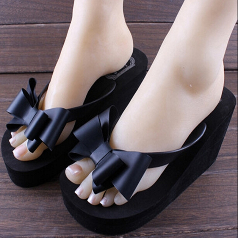 2014 shoes High summer with flip-flops female slippers wedges female platform shoes large base beach slippers cool slippers drag