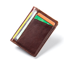 Buy Genuine Leather Credit Card Holder Men Women ID Card Case Bank Credit Card Wallet Driver License Holder Wallet Credit Cards for $7.31 in AliExpress store