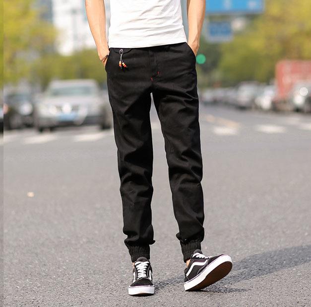 2015Top Quality New Brand Mens Print Beam Foot Sport Joggers Tactical Pencil Hip Hop Khaki Pants