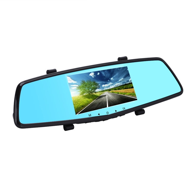 Newest 5.0 inch Full HD 1080P Car Rearview Mirror DVR Car Camera Parking Night Vision Car DVR Dual Camera Video Recorder(China (Mainland))