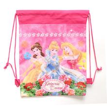 1pic princess school bags kids cartoon drawstring backpack bag For kids bag back to school mochila