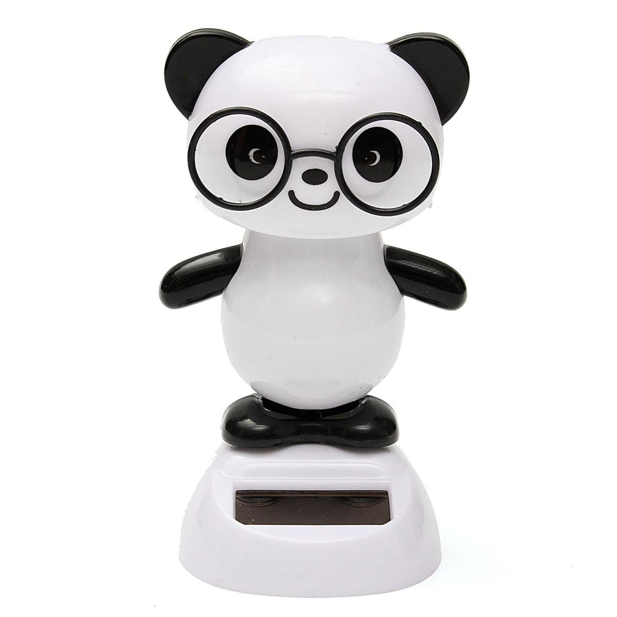 Solar Powered Dancing Flip Flap Car Home Desk Dancer Bobble Toy Flower Animal Bear Panda Shape Decoration Gadgets(China (Mainland))