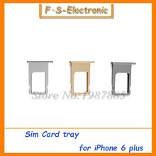 """Buy 50pcs/lot Free SIM Card Tray Holder Slot iPhone 6 4.7"""" 6G Plus 5.5"""" SIM Card Slot Holder Adapter Replacement for $18.87 in AliExpress store"""