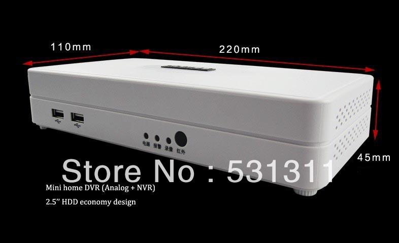 home mini nvr dvr CCTV 960H 4 Channel Mini H.264 DVR - Hybrid Mode,1080P NVR, 3G ,WIFI,HDMI 1080P Output, Cloud P2P Shining Electronics's store