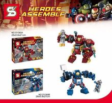 SY360 Super Heroes The Avengers Assemble Iron man Big Action Figures Minifigure Children Toys Compatible With Lego
