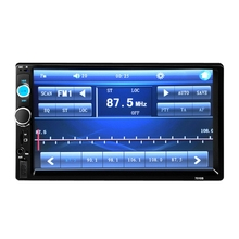 2016 New 7'' inch HD Bluetooth LCD Touch Screen Car Stereo Radio Player 2 DIN FM/MP5/USB/AUX 1080P Movie + Remote Controller(China (Mainland))