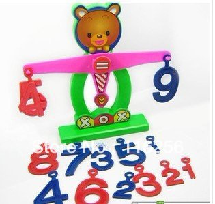 Small XiongTianPing scale understand digital practice and develop the mental balance development baby toys ZF172(China (Mainland))