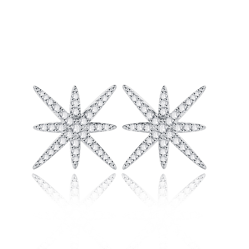 wholesale star 925 sterling silver stud earring factory price for star stud earring wholesale star earring supplier stamped s925(China (Mainland))