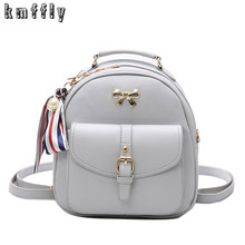 Buy Pearl Scarf Backpack Women PU Leather Women's Backpacks Fashion School Girls Bags Female Small Back Pack Famous Brand Mochilas for $16.37 in AliExpress store