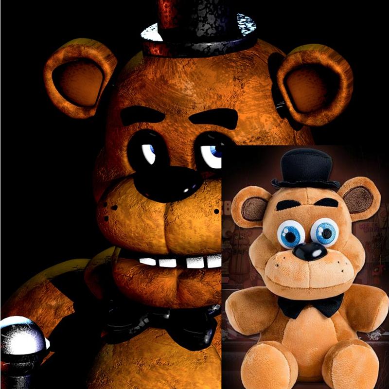 "In stock Five Nights At Freddy's 4 FNAF Freddy Fazbear Bear Plush Toys Doll 10"" Free shipping(China (Mainland))"