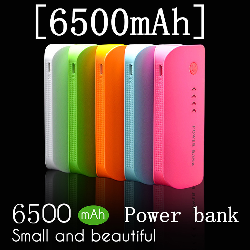 2016 New Double USB 6500mAh Power Bank External Mobile Backup Battery Powerbank Portable Charger For Mainstream Smartphone(China (Mainland))
