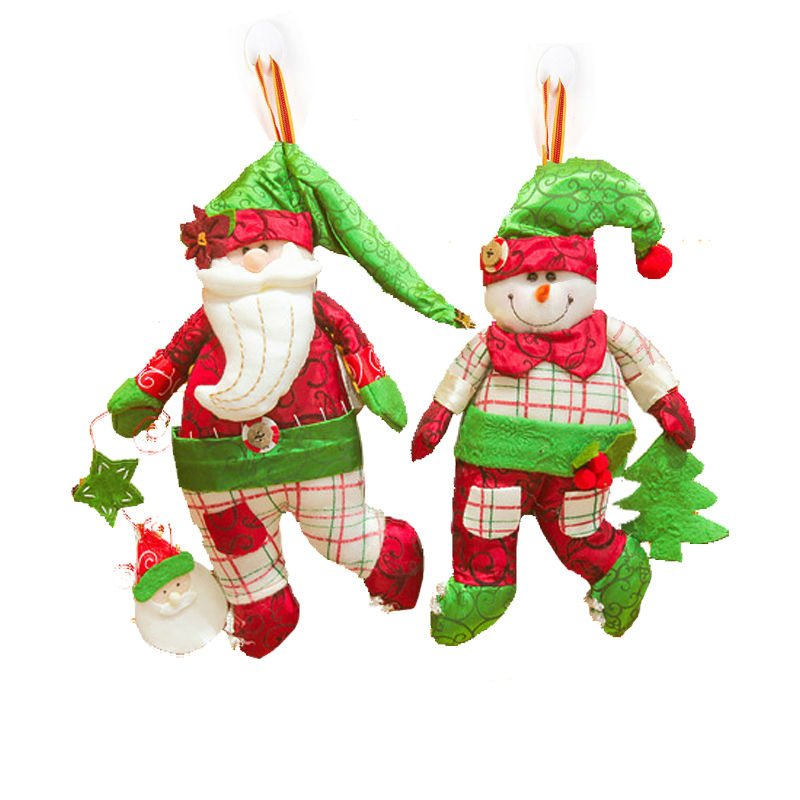 New Year 2016 Merry Christmas Santa Claus Snowman Indoor Decoration Gifts Christmas Tree Ornaments Hanging for Home Decor SD159(China (Mainland))