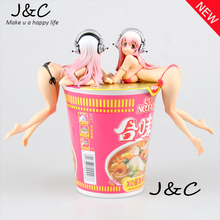 Free Shipping 14cm Super SONICO Action Figure Super Sonic Swimsuit Ver.Sexy PVC Anime Figure Bikini Sexy Girl Action Figure