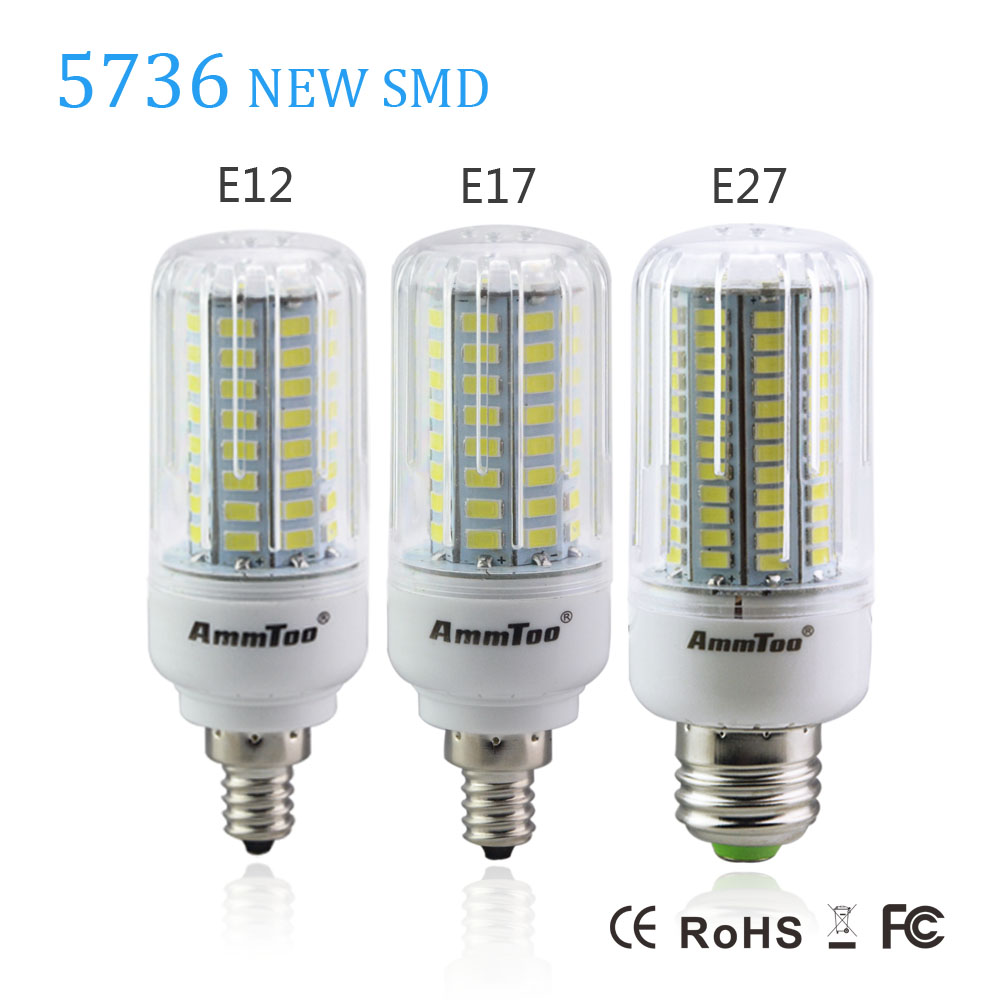 2016 New SMD 5736 LED Lamp E27 E17 E12 3W 5W 7W 9W 12W 15W Led Light Bulb 110V 120V Bombillas LED Light Brither than 5730 SMD(China (Mainland))