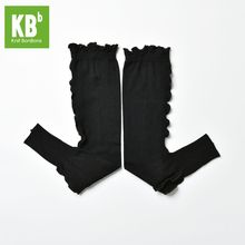 2017 KBB Spring Cute Women Ladies Female Knit Warm Knitted Yarn Black Frills Style Leg Covers Leggings Winter Leg Warmer(China (Mainland))