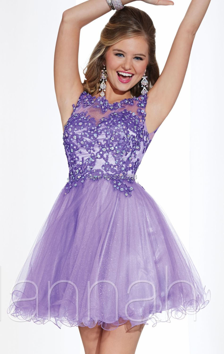Short Prom Dresses with Cap Sleeves
