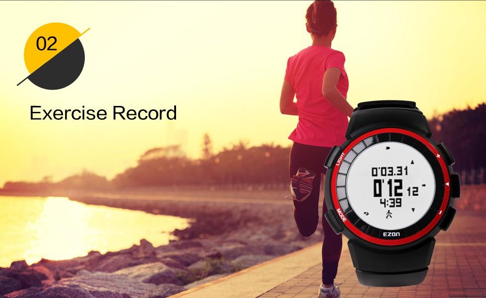 EZON калорий шагомер спортивные часы водонепроницаемые часы электронные мужчины и женщины часы хронограф счетчики доллар пункт T029