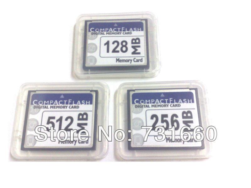 Free Shipping 10 Pieces 128MB 256MB 512MB CF Memory Card Compact Flash + CF Card Case(China (Mainland))